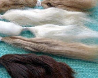 Needle Felting Wool Suri Alpaca Natural colors Eco Friendly / Needlecraft / Great for Dog fur by Fiber Artist GERRY