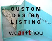 CUSTOM RESERVED LISTING for Karl-Eric