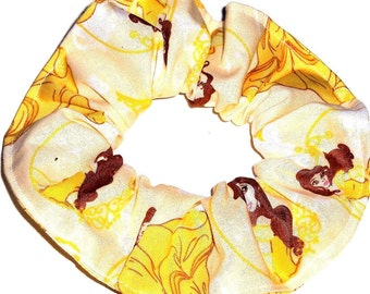 Disney Princess Belle Beauty and the Beast  Hair Scrunchies by Sherry Gold Purple