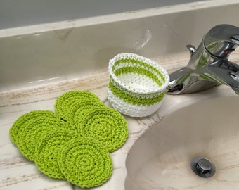 Greenery Face Scrubbing Pads Spa Set Reusable Exfoliating Scrubbing Washcloths
