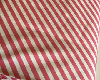 Pink Stripe fabric, Pink Gold Nursery fabric,  Modern Baby Quilt fabric, On Trend Stripe in Pink, Nursery Decor, Choose Your Cut