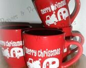 RESERVE listing for SARAH -Christmas Vintage Camper coffee mug Teardrop