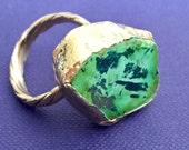 Dara Ettinger Dazzle REBECCA Adjustable Green and Gold Howlite Ring in Green metallic