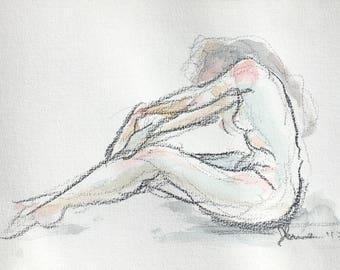 Watercolor figure drawing ii