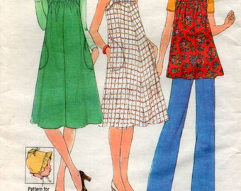 1977 Maternity Dress Pinafore tunic 32.5 inch 83cm bust Sewing Pattern Simplicity 8039