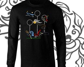 Long Sleeve Quidditch Game Harry Potter Fan Art T-Shirt