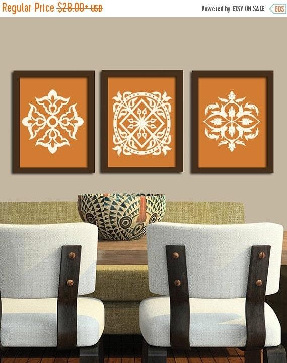 Kitchen Wall Decor Orange : Kitchen wall art canvas or prints mandala burnt by trmdesign