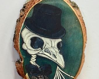 Bird skeleton Tree Ornament Wooden Handmade Decoration