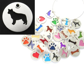 Australian Cattle Dog Sterling Silver Necklace Pendant Charm - Lots of Colors
