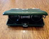 Vintage Hunter Green Bushnell Folding Opera Binoculars