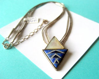 Carolyn Pollack Relios Sterling Silver Inlay Necklace