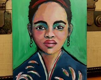 Inira - Original 5 x 7 inch Portrait Painting