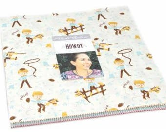 SALE In STOCK 10 inch squares Layer Cake - HOWDY Moda Fabric by Stacy Iest Hsu