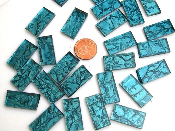 Blue green mosaic tile borders hand cut from van gogh for Perfekt mosaik bordure