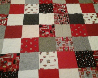 Ohio state full/queen quilt