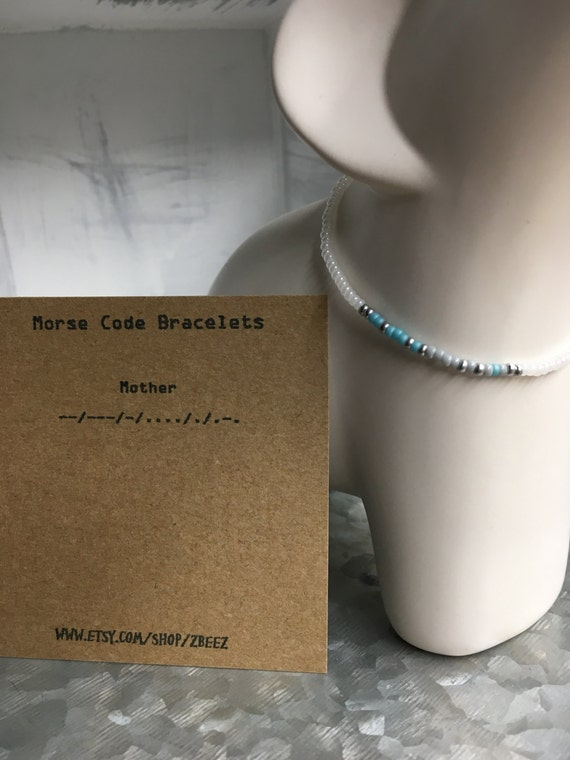 Mother Morse Code Stretchy  Bracelet