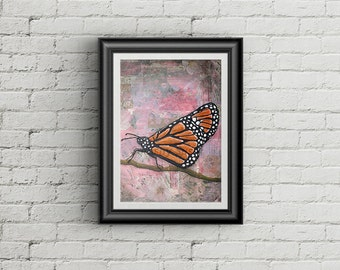 A Small Abduction Monarch Butterfly Giclee Art Print