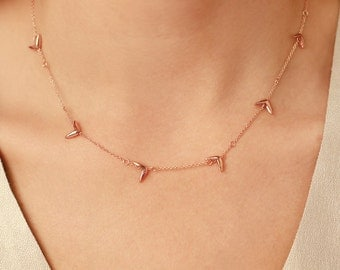 14k Rose Gold Seed Necklace | Nature Inspired Necklace