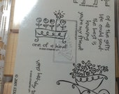 NEW Love Ya Bunches Stampin Up Rubber Stamp Set of Six Stamps Bird Birthday Flowers Thanks A Bunch Bird-Day Friendship One Of A Kind