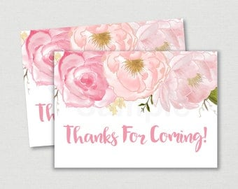 Soft Pink Floral Thank You Tags / Floral Thank You Tags / Floral Baby Shower / Watercolor Floral / Printable INSTANT DOWNLOAD A170