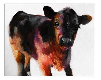 PRINT Buster the Calf Art Print
