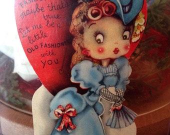 Vintage Victorian Girl Valentine