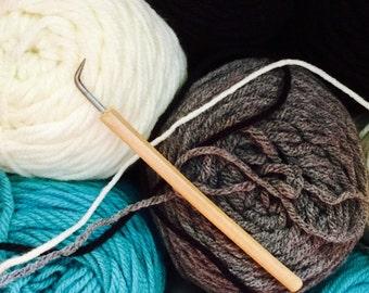 Loom Hook. Corking or Knitting Nancy Hook. Bamboo Handle. Loom Knitting Hook. Sock Loom Hook.
