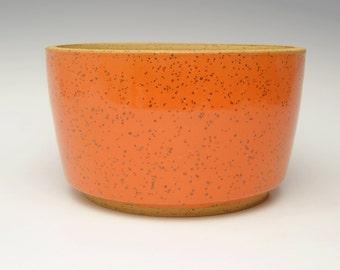 Stoneware succulent planter pot orange cactus planter bonsai planter ceramic planter pottery herb pot  6 1/2 - 6 3/4 x 4 Free shipping w4