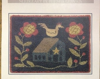 Primitive Punchneedle Pattern By Brenda Gervais - The Homestead