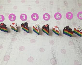 Rainbow Gay Pride LGBT Equality Love Wins Cake Slice Charm