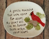 Cardinal meaning dish, Red Bird memory dish, Cardinal memorial dish, symbolic, spiritual keepsake, remembering loved ones, red bird meaning