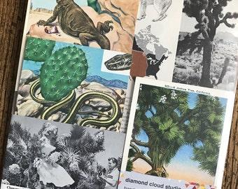 Let's Travel to Joshua Tree Desert National Park Vintage California Collage, Scrapbook and Planner Kit Number 2369
