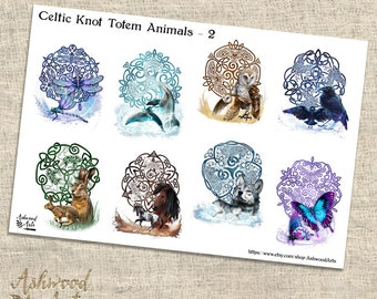 Celtic Knot Animal Totem Druid Pagan Planner Stickers