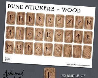 Runes Norse Celtic Druid Pagan Planner Stickers