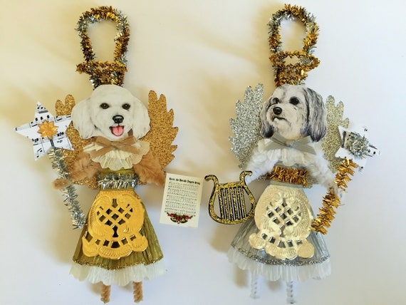 Maltipoo ANGEL Christmas ornaments holiday DOG ornaments
