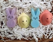 Bunny and Chick Soap Set - Easter Soaps, Baby Shower, Party Favors, Basket Fillers, Teacher Gift, Bunny Soap Chick Soap. Kids soap.