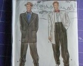 Out of Print Simplicity Retro Men's Pants, Jacket and Bow Tie Pattern #8879, Uncut Size 38 thru 44