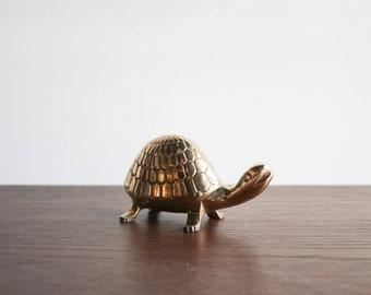 Vintage brass turtle paperweight