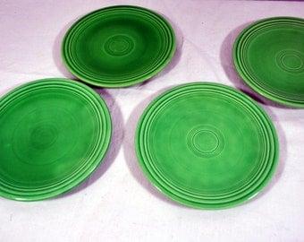 Fiesta Green Bread and Butter Dessert Plates - Set of 4