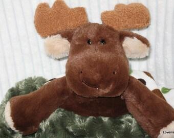 Security Blanket, Baby Blanket, Lovie - moose - medium  Lovems