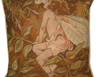 Flower Fairies Jasmine Tapestry Cushion Pillow from the books of Cicely Mary Barker