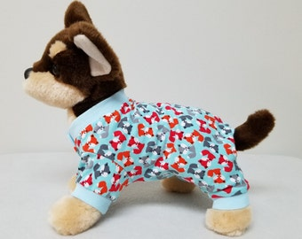 Dog Clothes Foxy Pajamas, Chihuahua, Yorkie