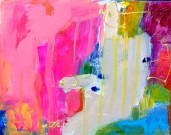Pink Chaos, abstract modern, expressionism, aqua