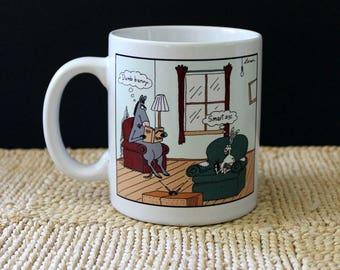 Vintage 1980s Gary Larson cartoon mug. Animal humor.