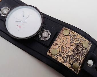Steampunk wirst watch. Steampunk watch. . Cuff watch.