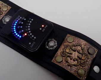 Steampunk Watch .Steampunk cuff watch.Steampunk LED watch.