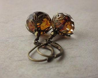 Crystal Amber Earrings