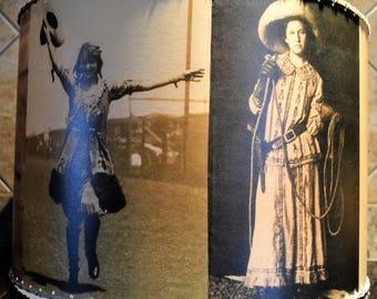 16 X 16 Cowgirl, Western Decor, Lamp Shade