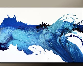 Abstract Canvas Art Painting 36x24 Original Contemporary Paintings by Destiny Womack - dWo - Flooded with Emotion