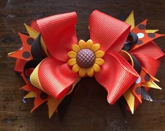 Autumn Themed Hair Bow